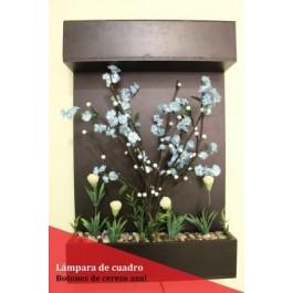 Cuadro Botones de Cerezo Azul