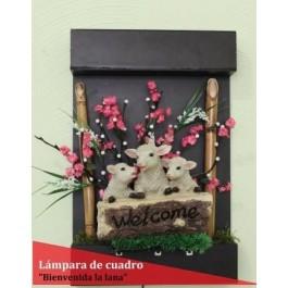 """Cuadro """"Bienvenida la lana"""""""