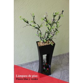 Lampara de piso con ramas luminosas LED