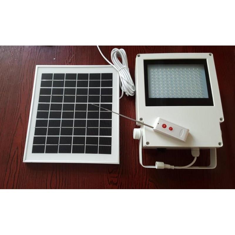 L mpara luminaria solares 108 leds con panel solar for Lampara solar pared exterior
