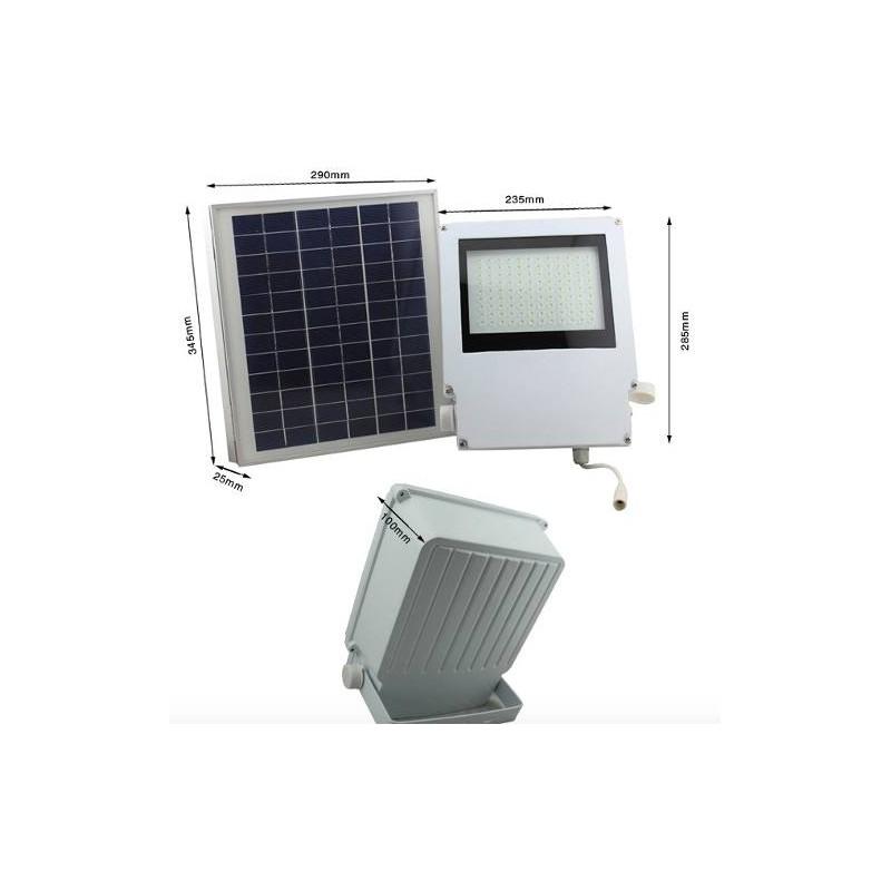 L mpara luminaria solares 108 leds con panel solar - Lampara de jardin solar ...