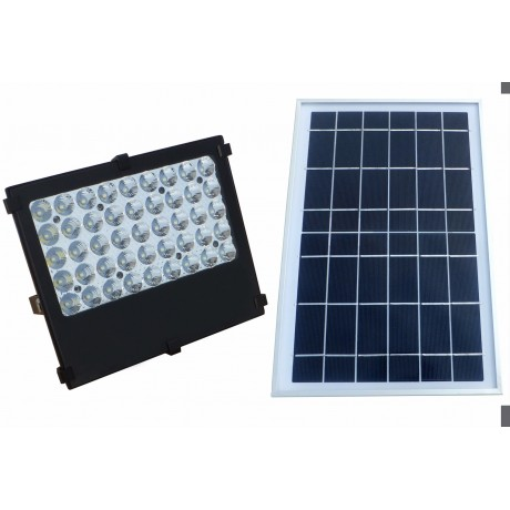 Luminaria Led Solares 10W Con Panel Solar Exteriores y Jardín 45 Leds y Deflector