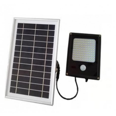 Luminaria Led Solar con Sensor de Movimiento 120 Leds y Panel Solar 6 Watts