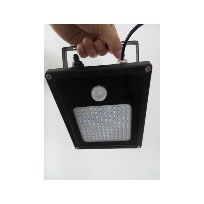 Luminaria led solar con sensor de movimiento 120 leds y for Luminarias de exterior led