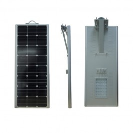 Luminarias Led Solares 70W Serie AIO Panel Solar Integrado Alumbrado Público All In One