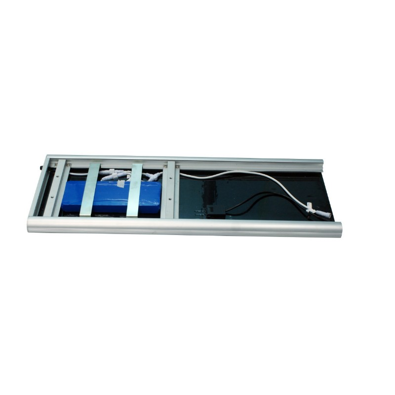 Luminarias led solares 50w serie aio panel solar integrado for Alumbrado solar exterior