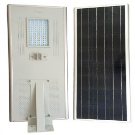 Luminarias Led Solares 50W Serie AIO Panel Solar Integrado Alumbrado Público All In One