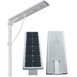 Luminarias Led Solares 40W Serie AIO Panel Solar Integrado Alumbrado Público All In One