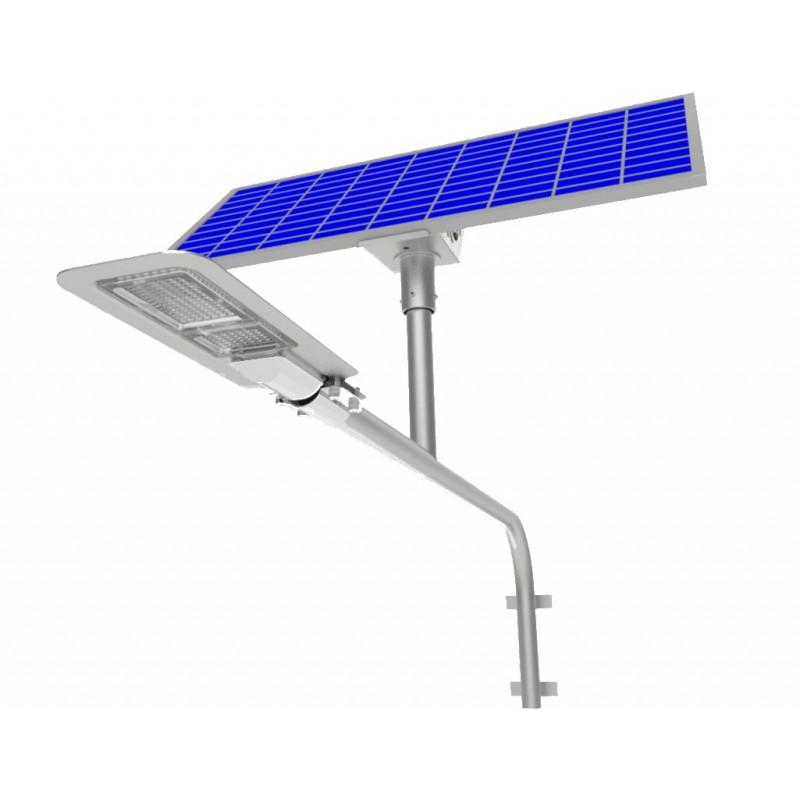 Luminaria led solar 80w de potencia para exterior y jardin for Lampara solar pared exterior