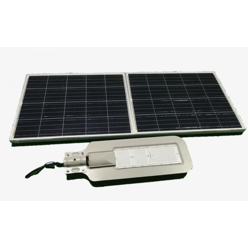 Luminaria led solar 80w de potencia para exterior y jardin for Iluminacion para jardines energia solar