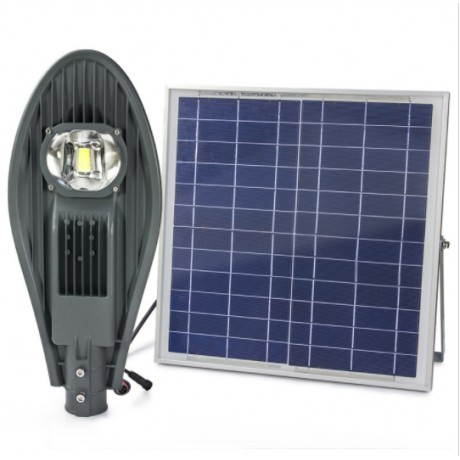 Luminaria Led Solar 60W De Potencia con Lupa para Exterior y Jardin con Panel Solar de Alta Potencia